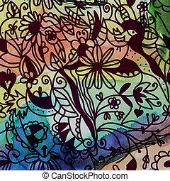 Floral seamless pattern vintage