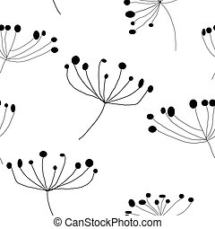 Floral seamless pattern white