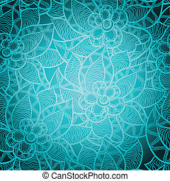 Floral seamless pattern with abstract hand drawn flowers.