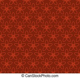 Floral Seamless Pattern with Jasmine Flowers. Vector Red Background