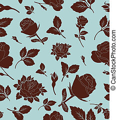 Floral seamless pattern with rose,