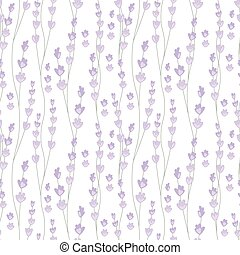 Floral seamless pattern with stylized lavender branches