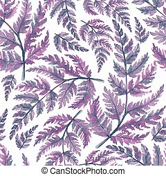 Floral seamless pattern with watercolor leaves 3