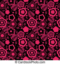 Floral seamless pink background