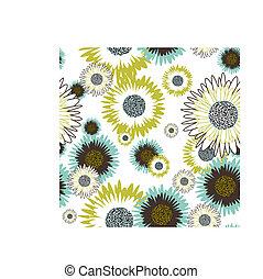 floral, seamless, plano de fondo