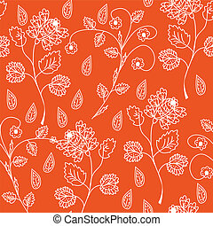 Floral seamless red ornate pattern