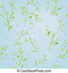 Floral seamless spring pattern in tender style