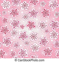 Floral seamless spring pattern