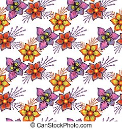 Floral seamless spring pattern