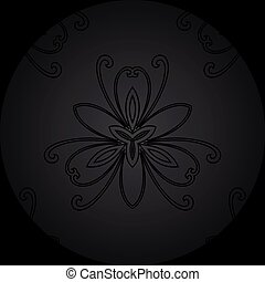 Floral Seamless Vector Pattern. Orient Abstract Background