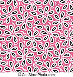 Floral seamless vector wallpaper