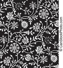 Floral seamless wallpaper-pattern