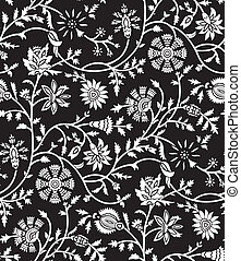 floral, seamless, wallpaper-pattern