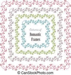 floral set a frames for your design