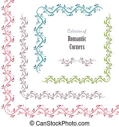 floral set corners for your design