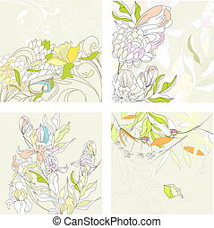 floral, set1, achtergrond