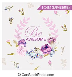 Floral Shabby Chic Graphic Design