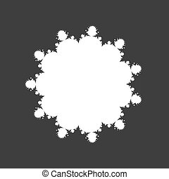 floral shaped copyspace on gray