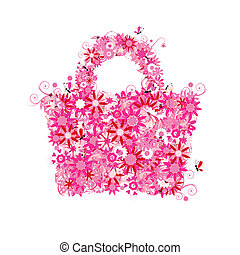 Floral shopping bag, summer sale. See also floral style...