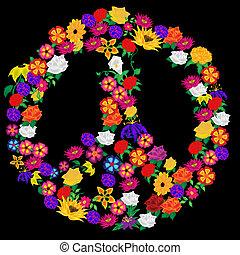floral, signo paz