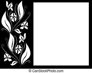 Floral Silhouette Paper Design