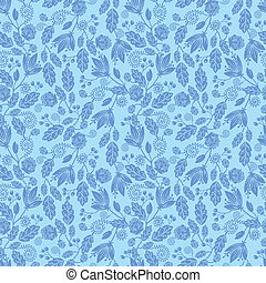 Floral Silhouettes In the Wind Seamless Pattern background