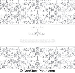Floral silver background. Vector