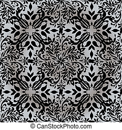 floral silver repeat - Silver and white floral inspired ...