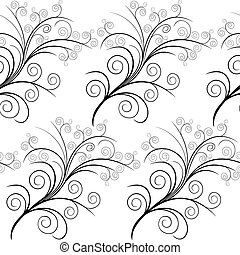Floral simple seamless pattern