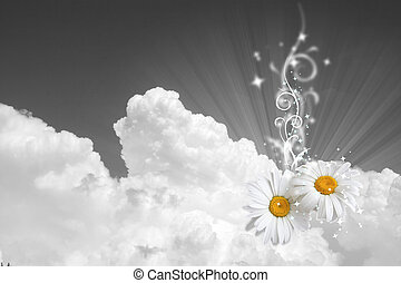 Floral sky background