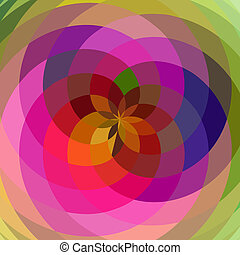 Floral spiral abstract.