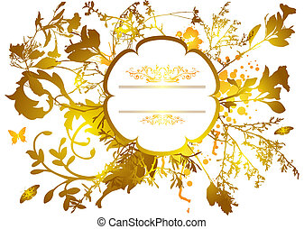 Orange floral design with room to add your own text
