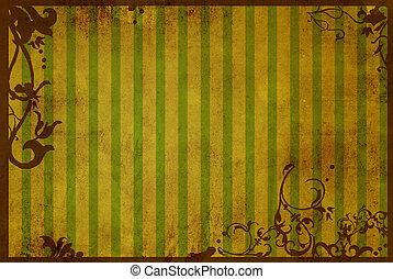 floral, stijl, texturen en achtergronden, frame