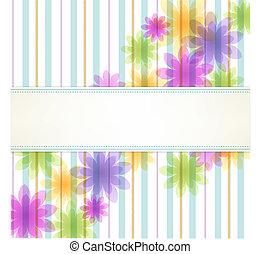 floral, streep, achtergrond