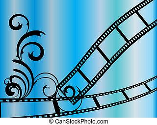 floral, strepen, film