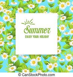 Floral summer card