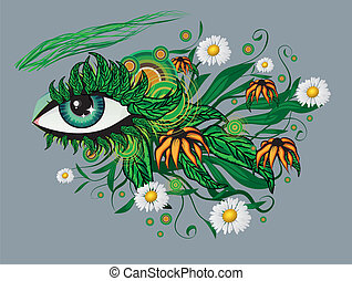 Floral summer eye