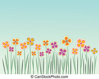 Floral summer field background