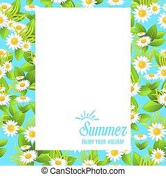 Floral summer frame