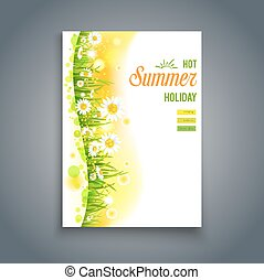 Floral summer template