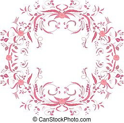 floral swirl frame for your design