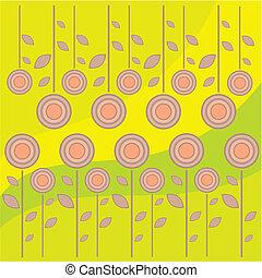 floral, symétrique, tuiles, caresse