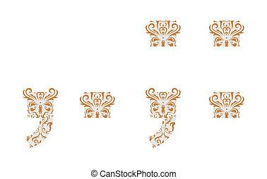 Floral symbol. Ornament font