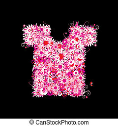 Floral t-shirt, summer sale. See also floral style images in my gallery