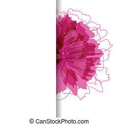 floral, tarjeta, con, lugar, para, su, texto