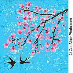 floral, tarjeta
