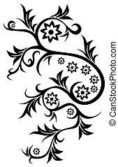 floral, tatuaje
