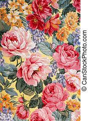 floral, tecido, 01