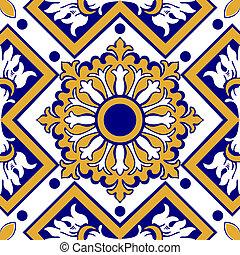 floral tegels, oud
