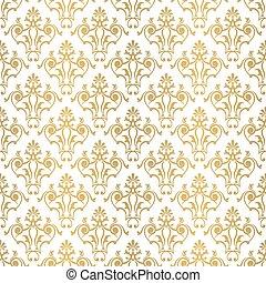 floral, telha, pattern., seamless